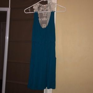 Dresses & Skirts - Teal dress w/ lace back